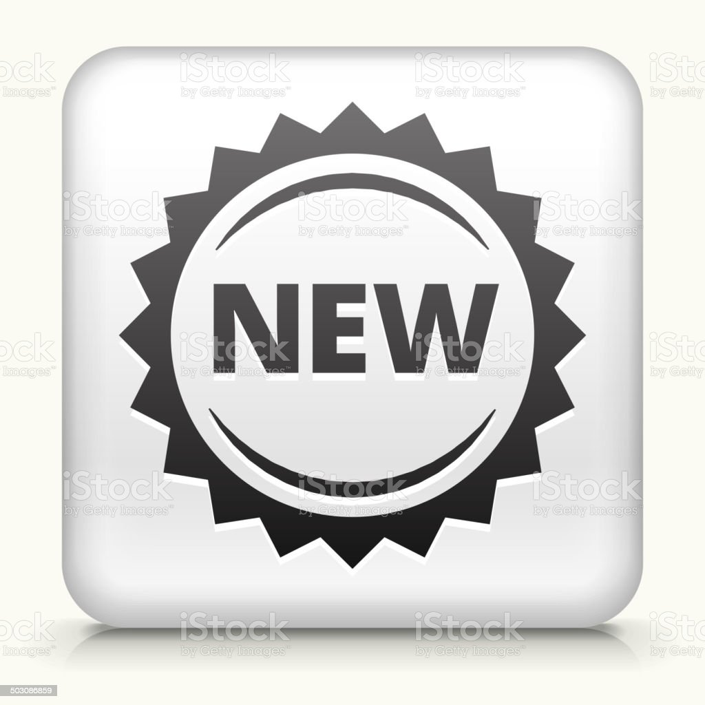 Square Button with New royalty free vector art vector art illustration