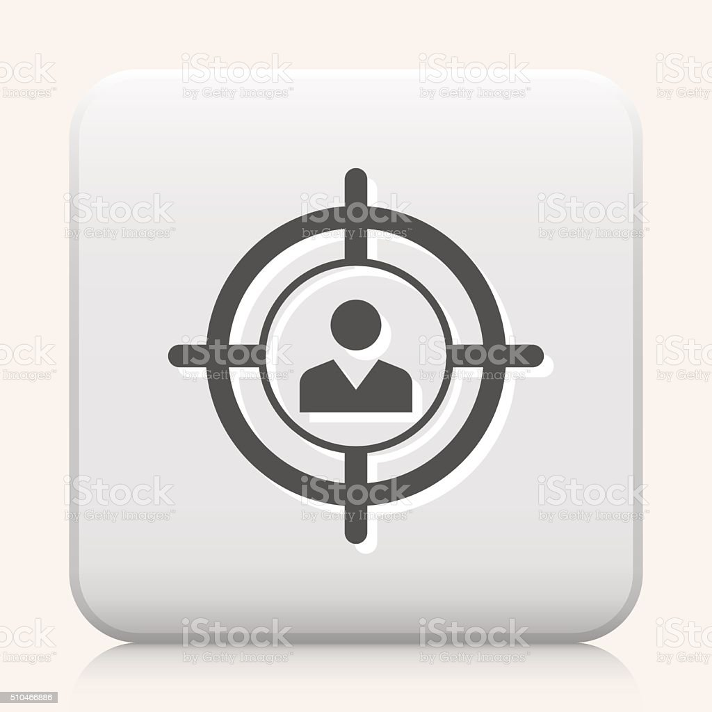 Square Button with Recruitment vector icon graphic vector art illustration
