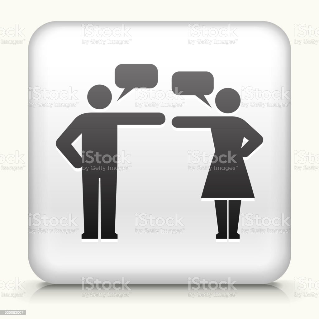 Square Button with Relationship Problems royalty free vector art vector art illustration