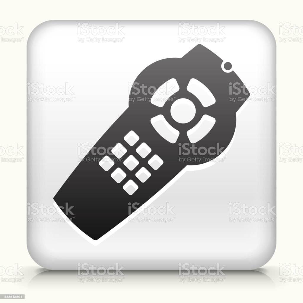 Square Button with Remote royalty free vector art vector art illustration