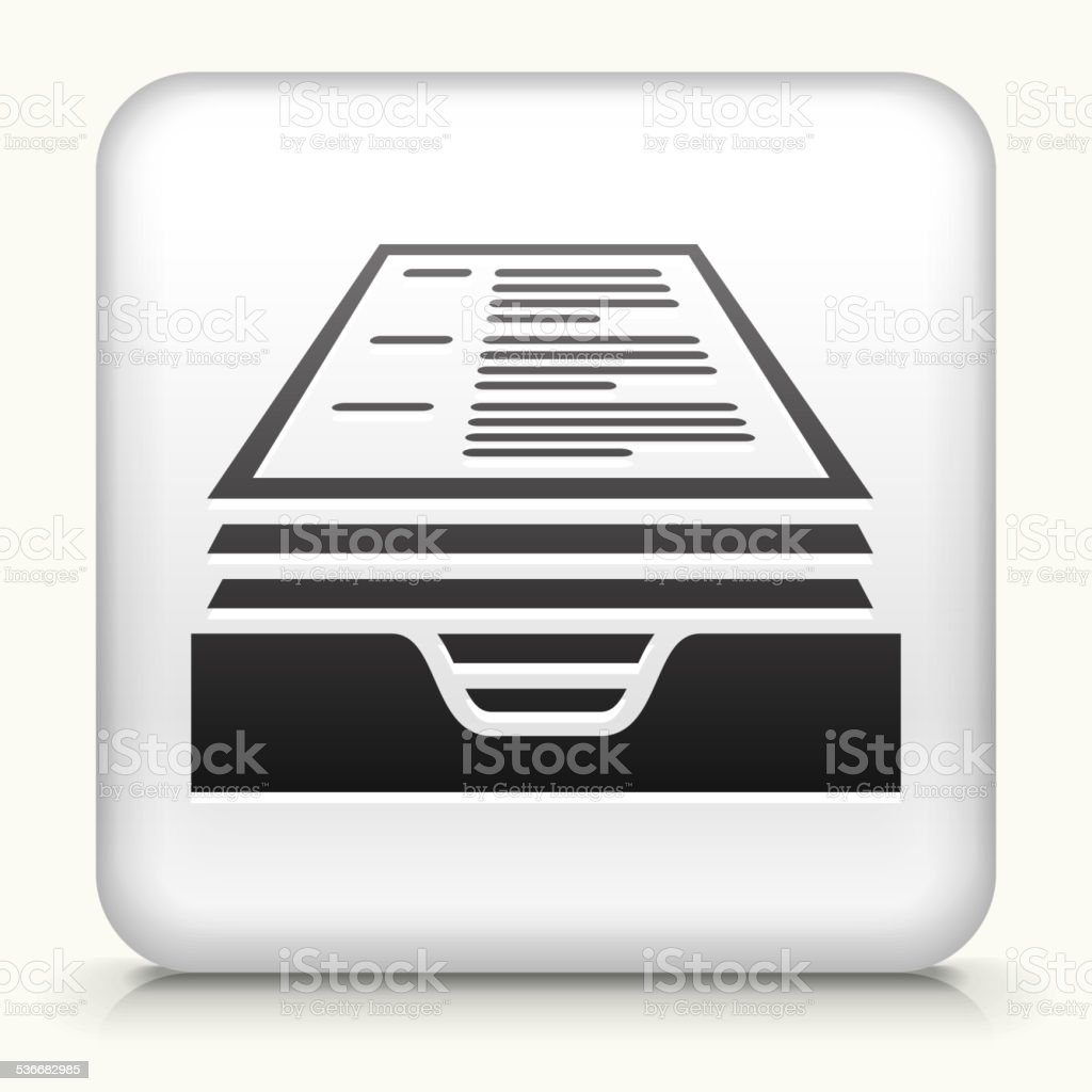 Square Button with Resume vector art illustration