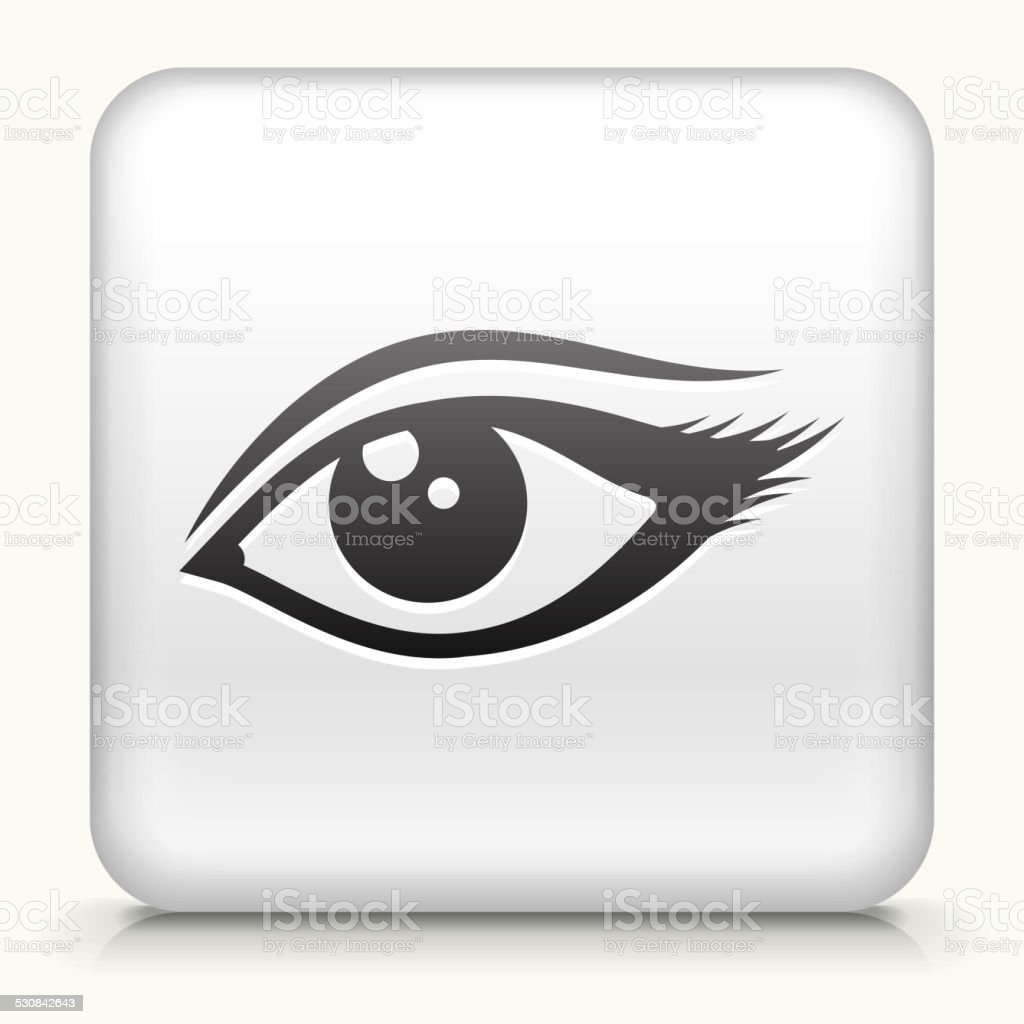 Square Button with Sexy Eye design vector icon vector art illustration