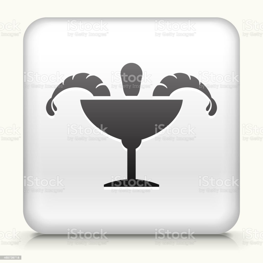 Square Button with Shrimp Cocktail royalty free vector art vector art illustration