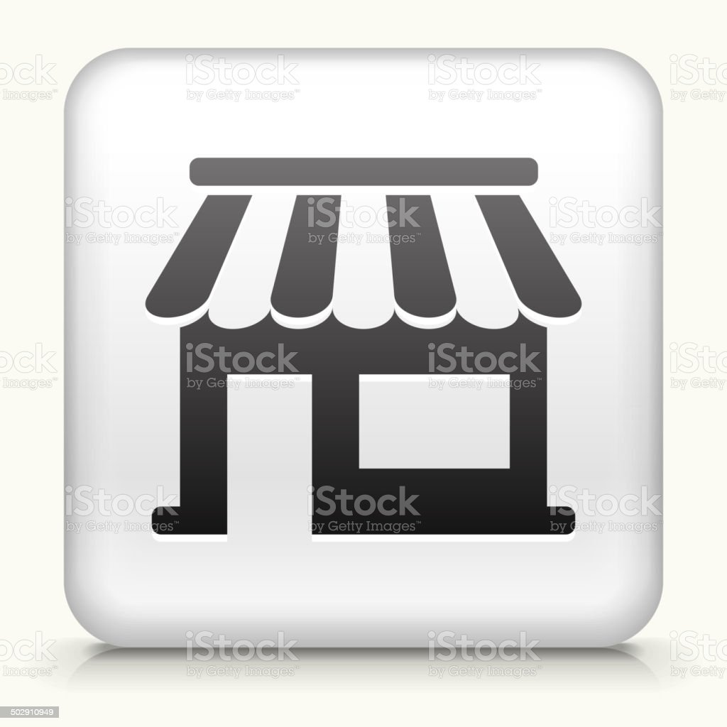 Square Button with Store royalty free vector art vector art illustration