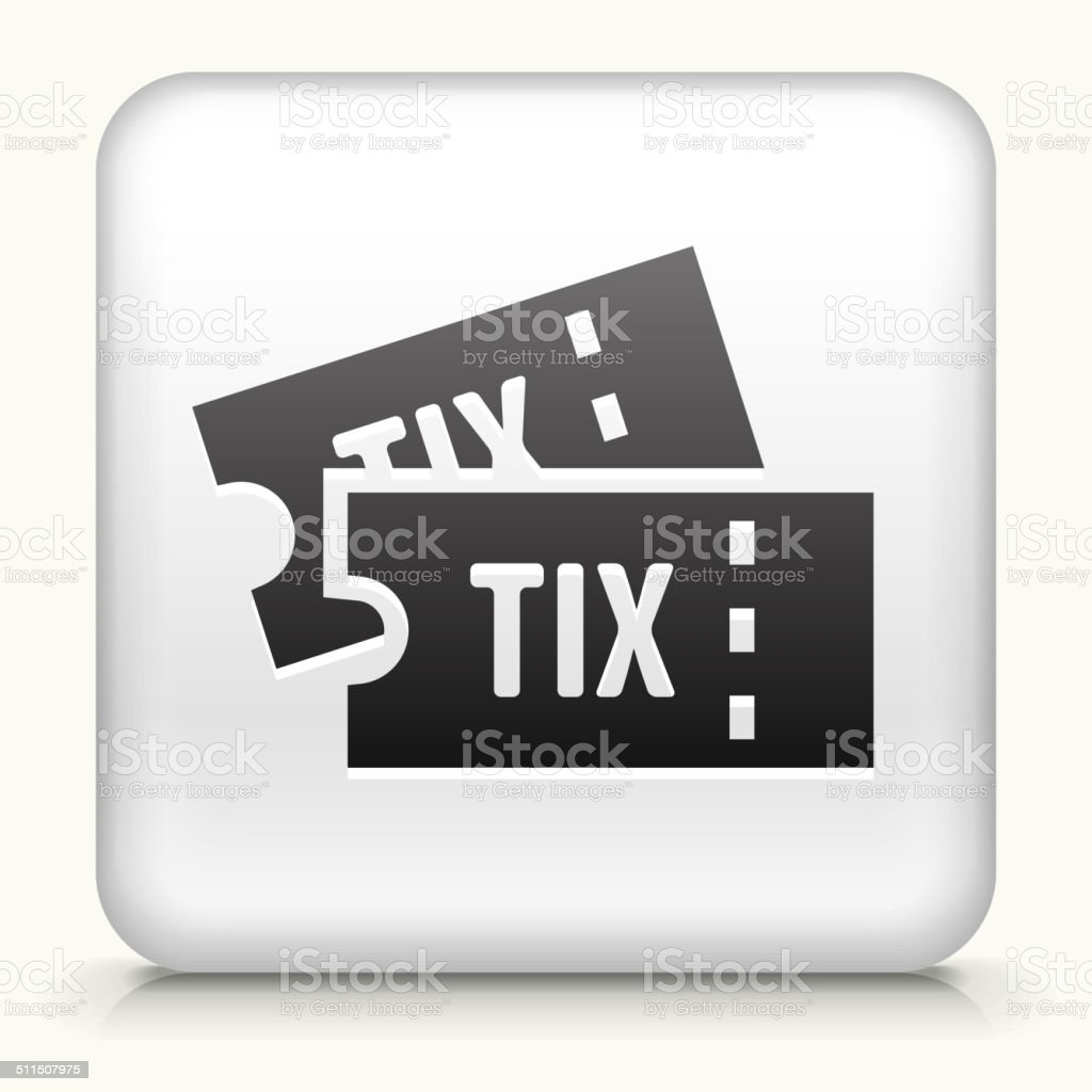 Square Button with Tickets vector art illustration
