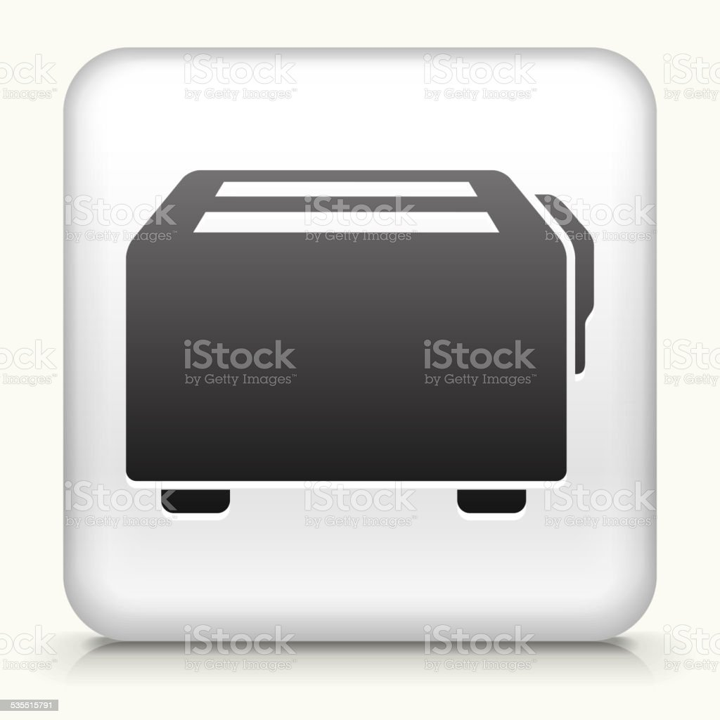 Square Button with Toaster royalty free vector art vector art illustration