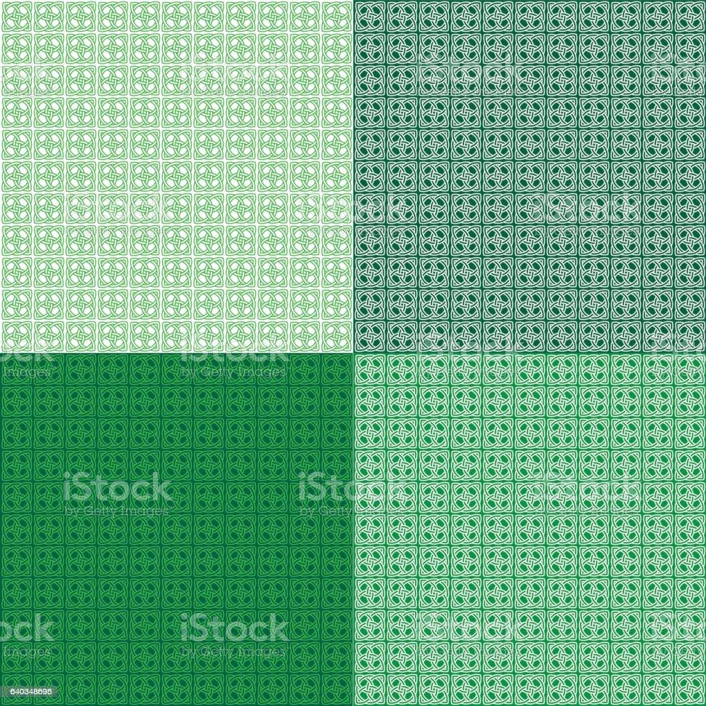 square celtic knot patterns vector art illustration