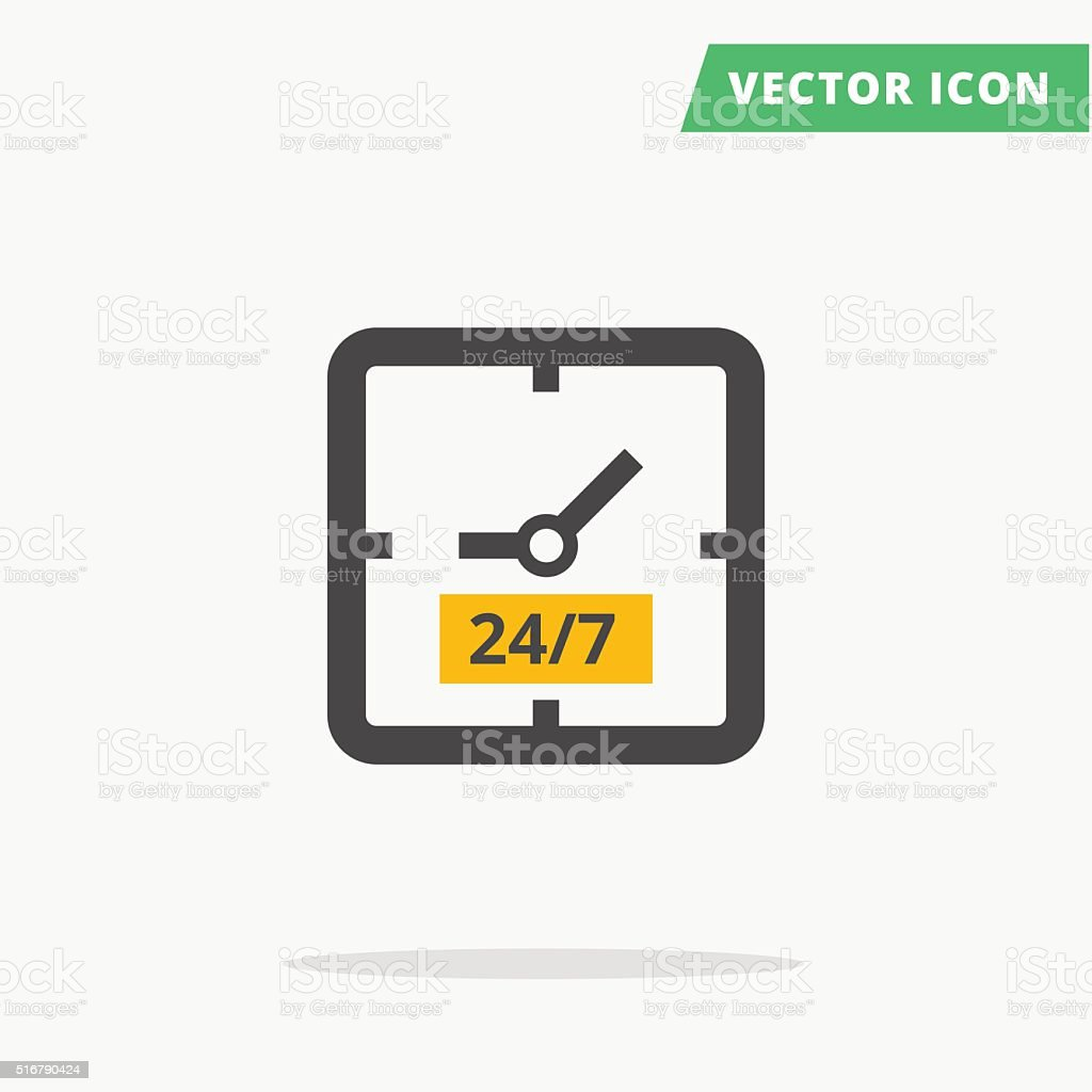square clock time sign vector art illustration