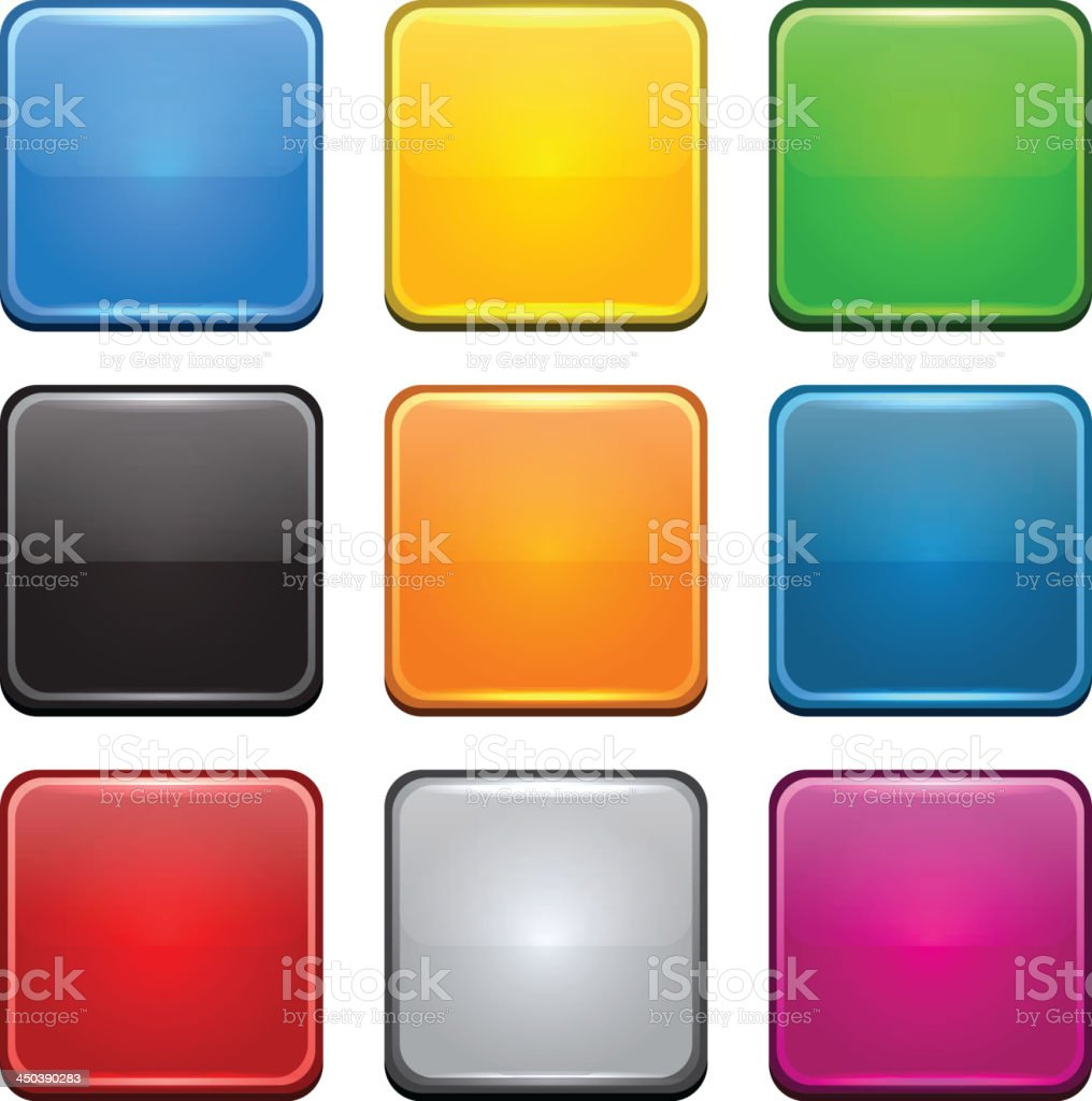 Square color icons. royalty-free stock vector art
