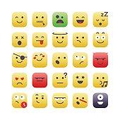 Square Emoji set 2