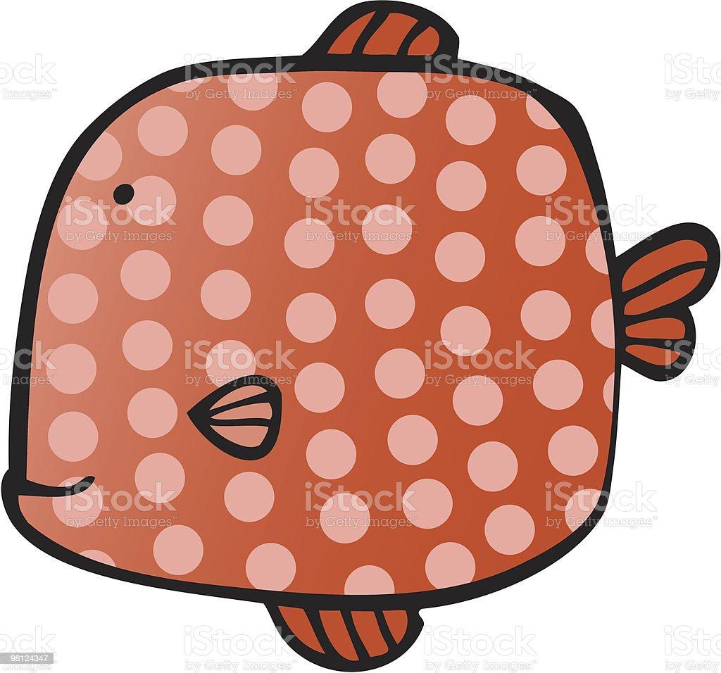 square fish vector art illustration