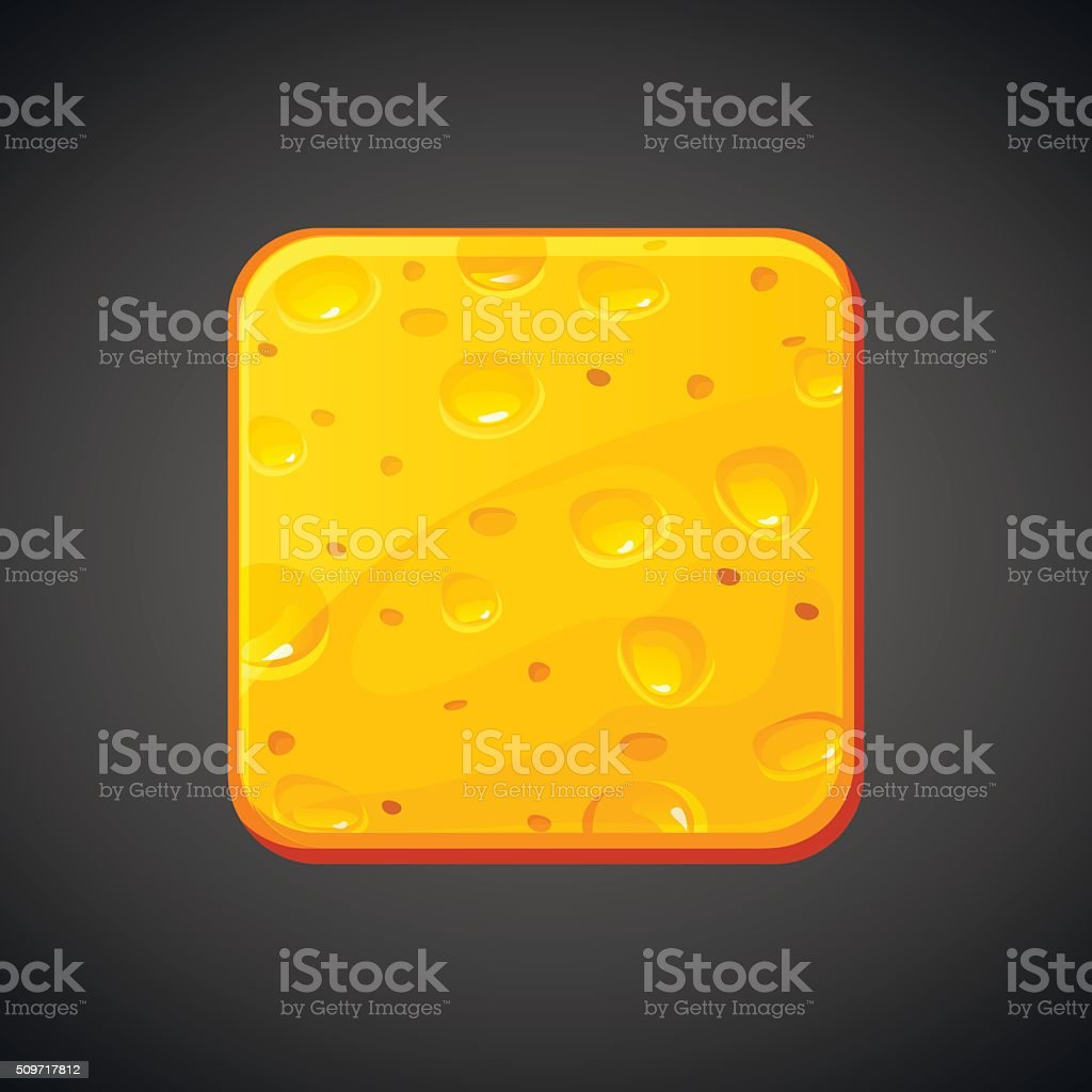 square food cheese icons, vector vector art illustration
