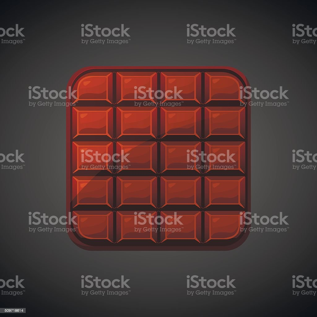 square food chocolate  icons, vector vector art illustration