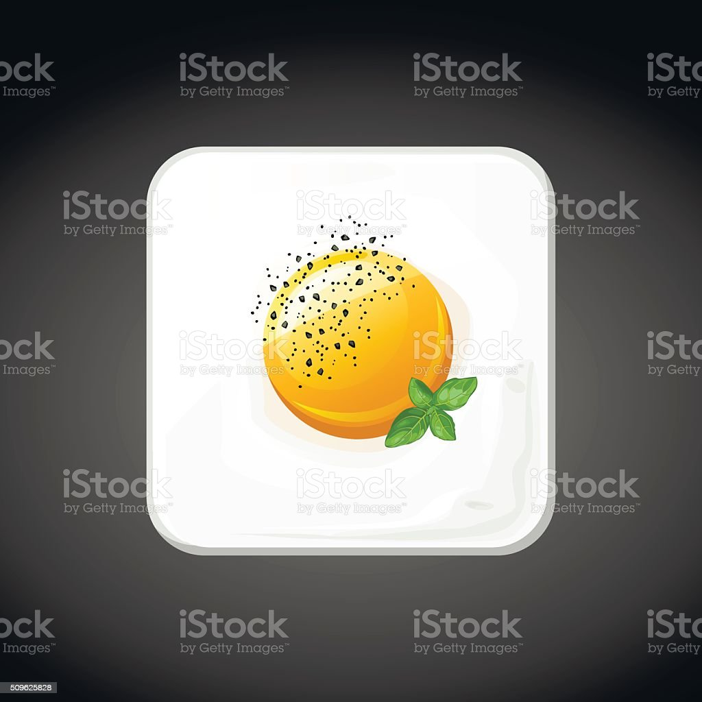 square food egg icons, vector vector art illustration