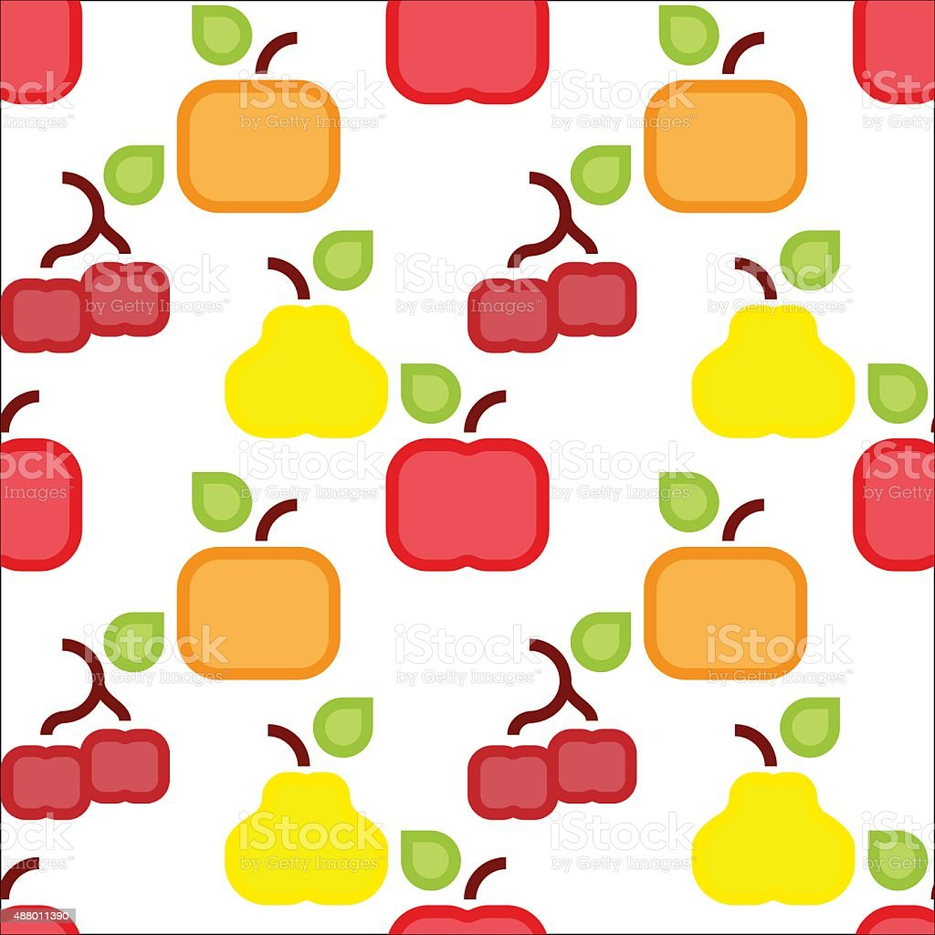 Square fruit pattern vector art illustration