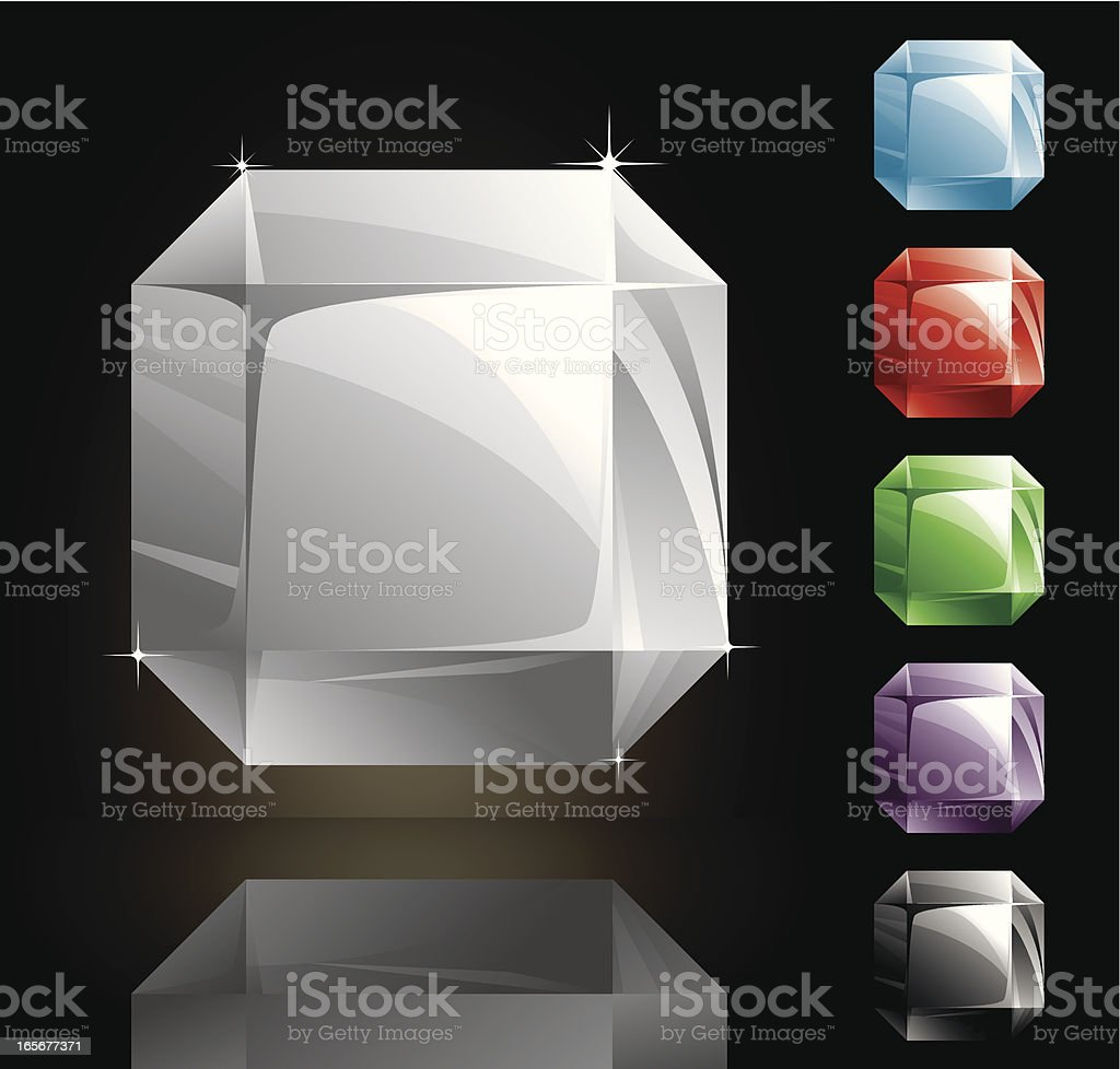 Square Gems royalty-free stock vector art