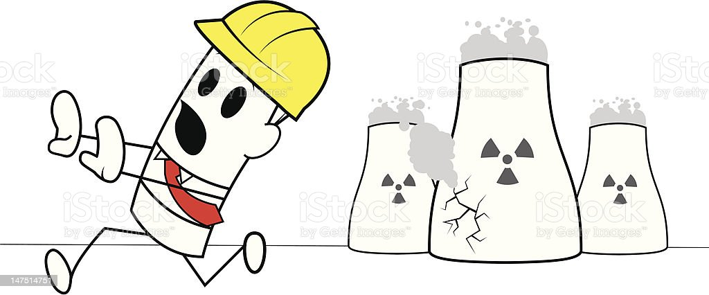 Square guy-Nuclear reactor royalty-free stock vector art