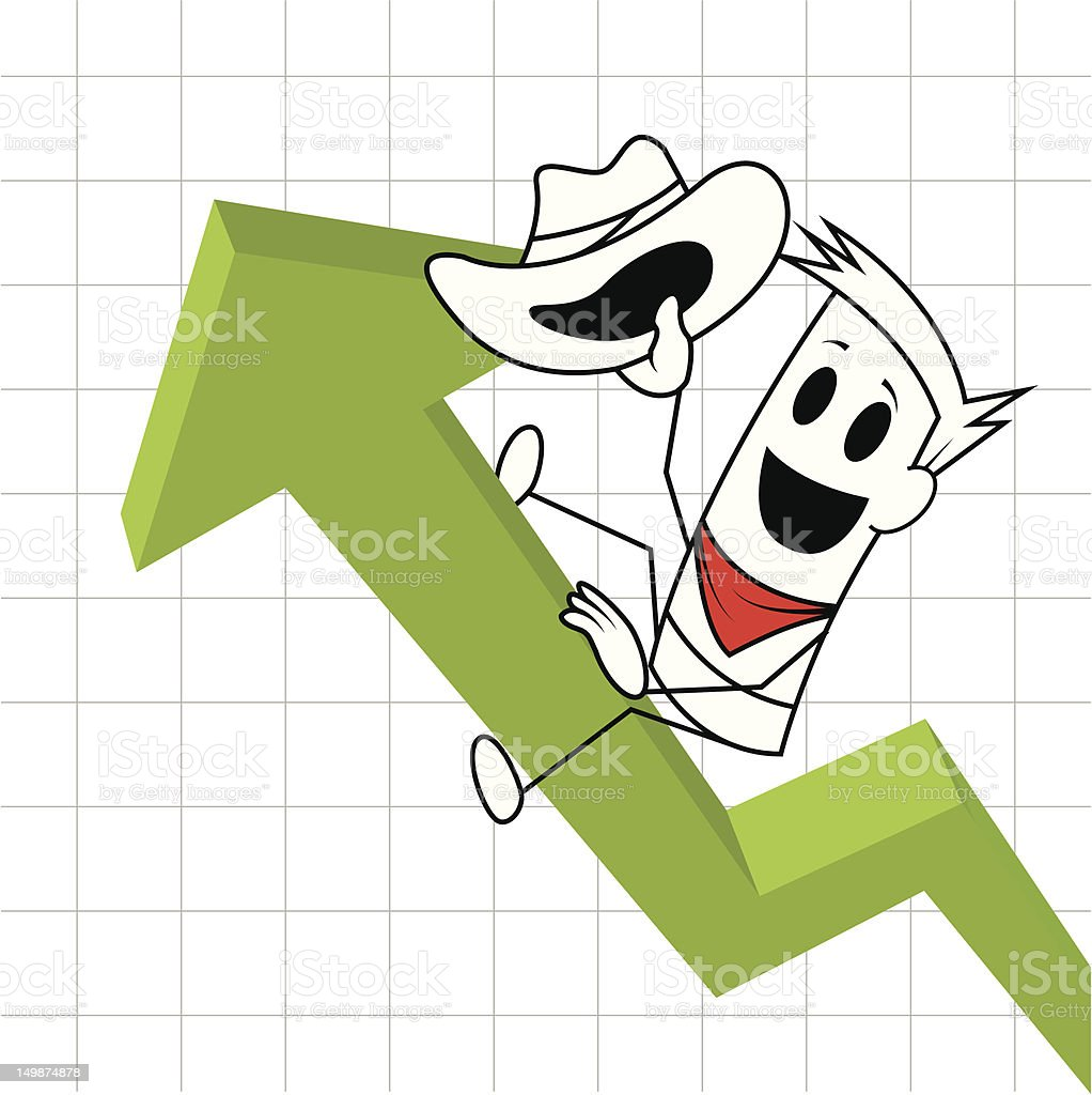 Square guy-rodeo chart royalty-free stock vector art