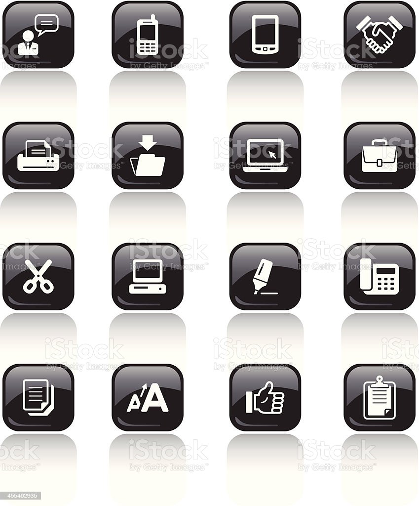 Square Icons Set | Business royalty-free stock vector art