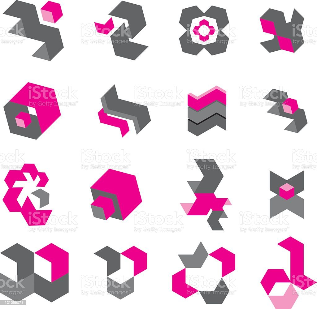 Square Icons royalty-free stock vector art