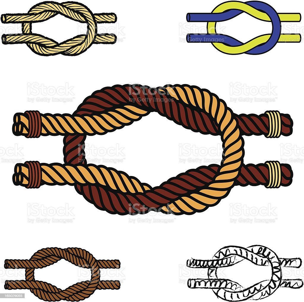 square knot royalty-free stock vector art