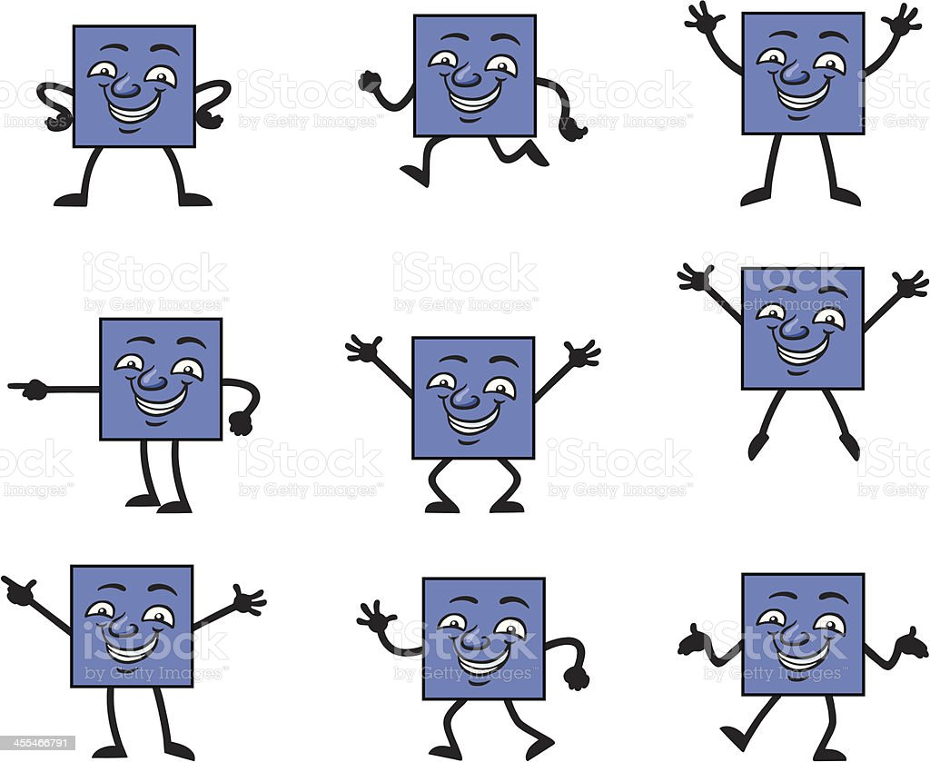 Square Man vector art illustration