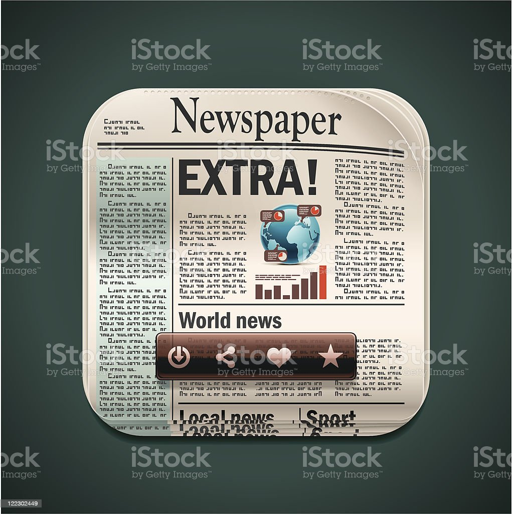 Square newspaper XXL icon royalty-free stock vector art