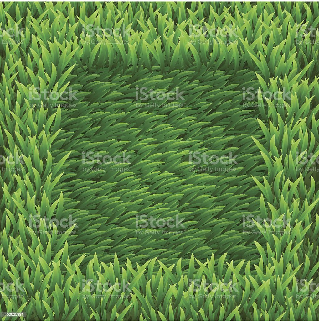 Square on green grass royalty-free stock vector art