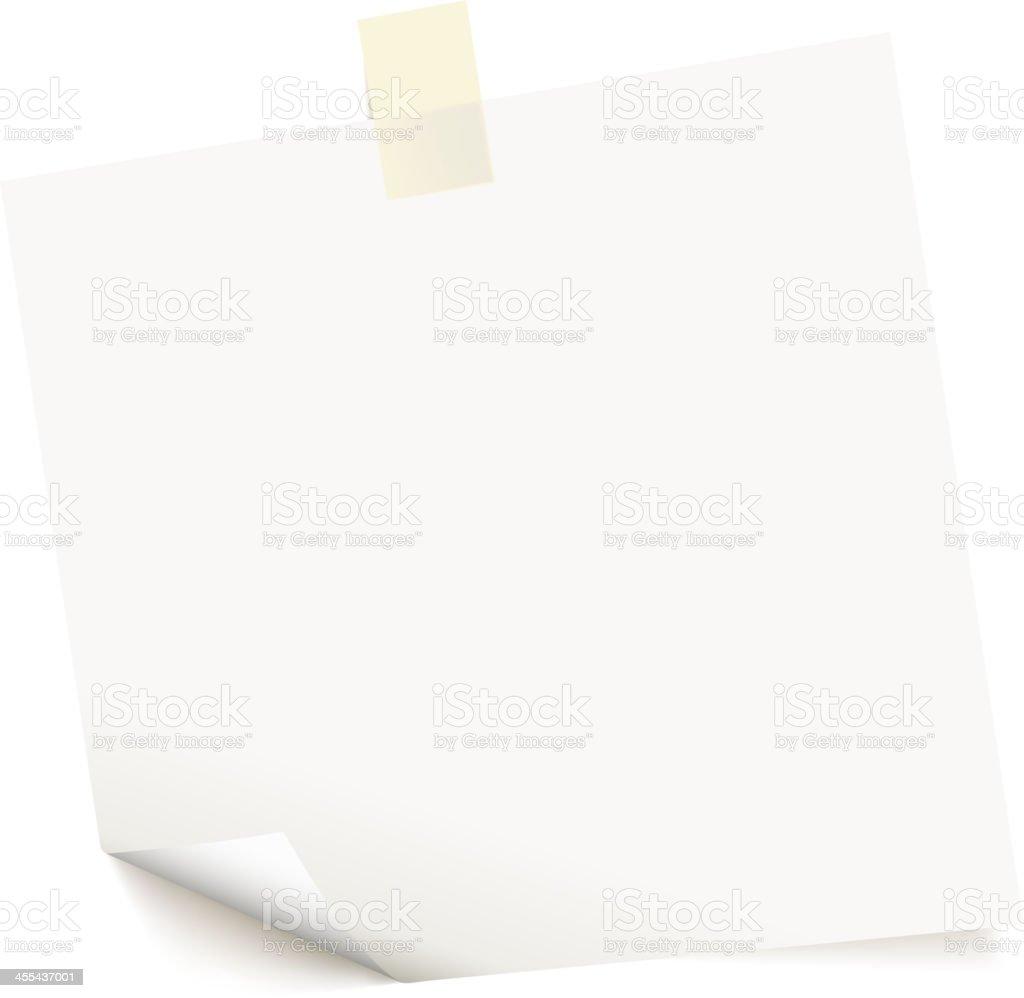 square paper vector art illustration