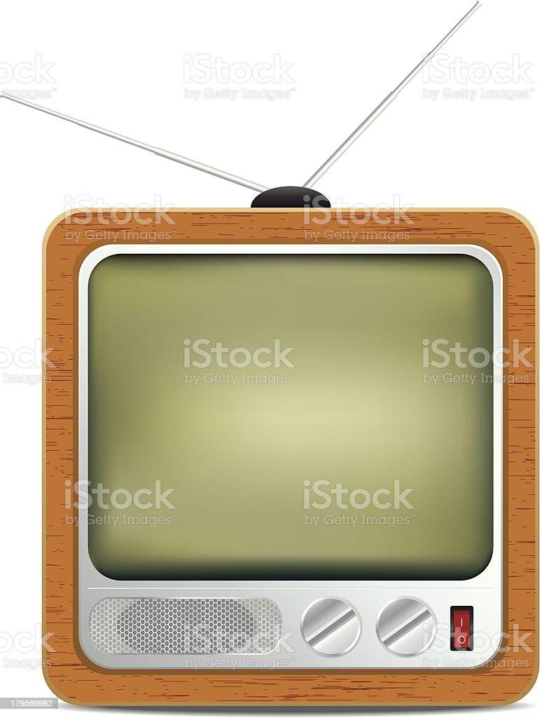 Square retro TV icon royalty-free stock vector art