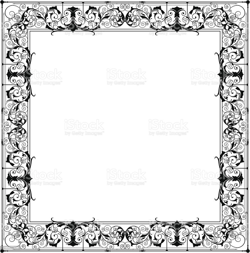 Square Scroll Frame royalty-free stock vector art