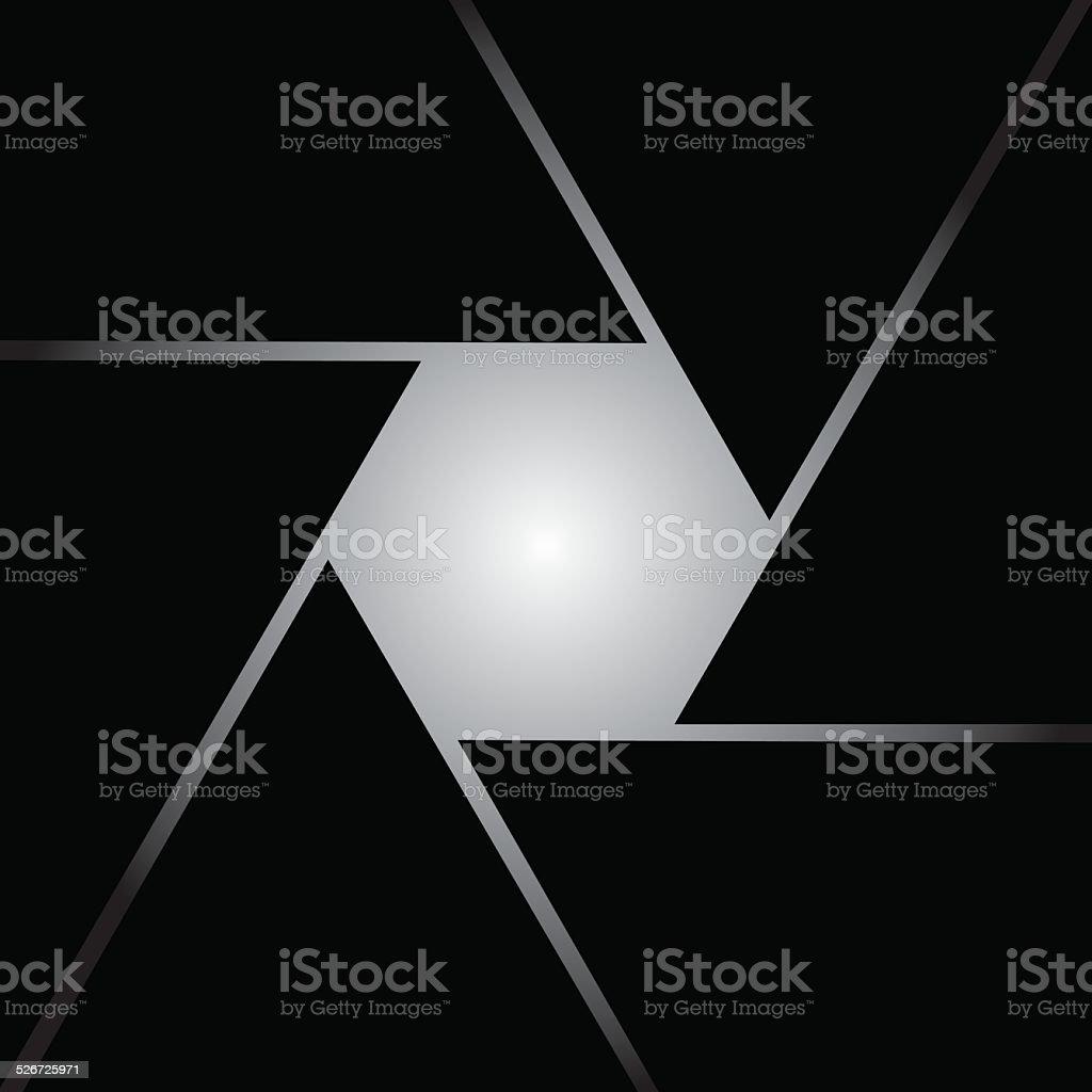 Square Shutter icon vector art illustration