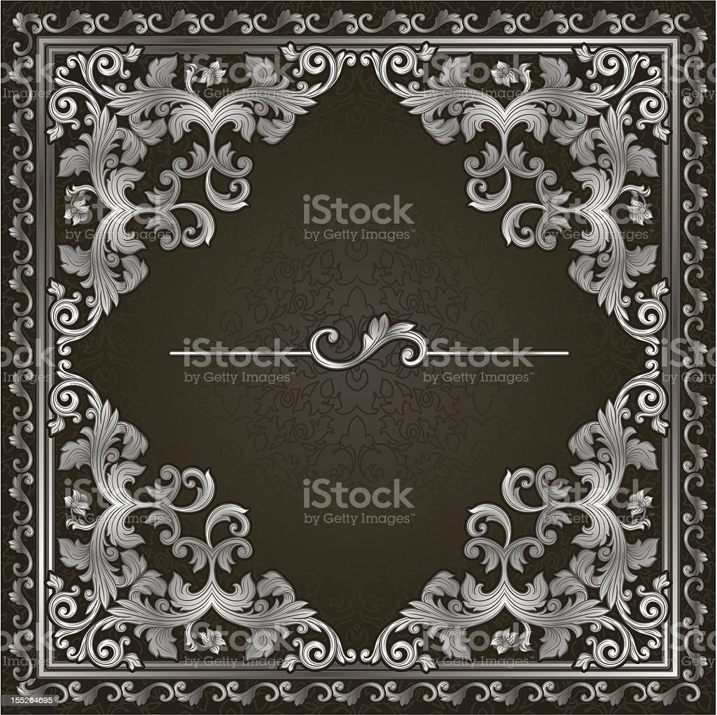 square silver frame royalty-free stock vector art