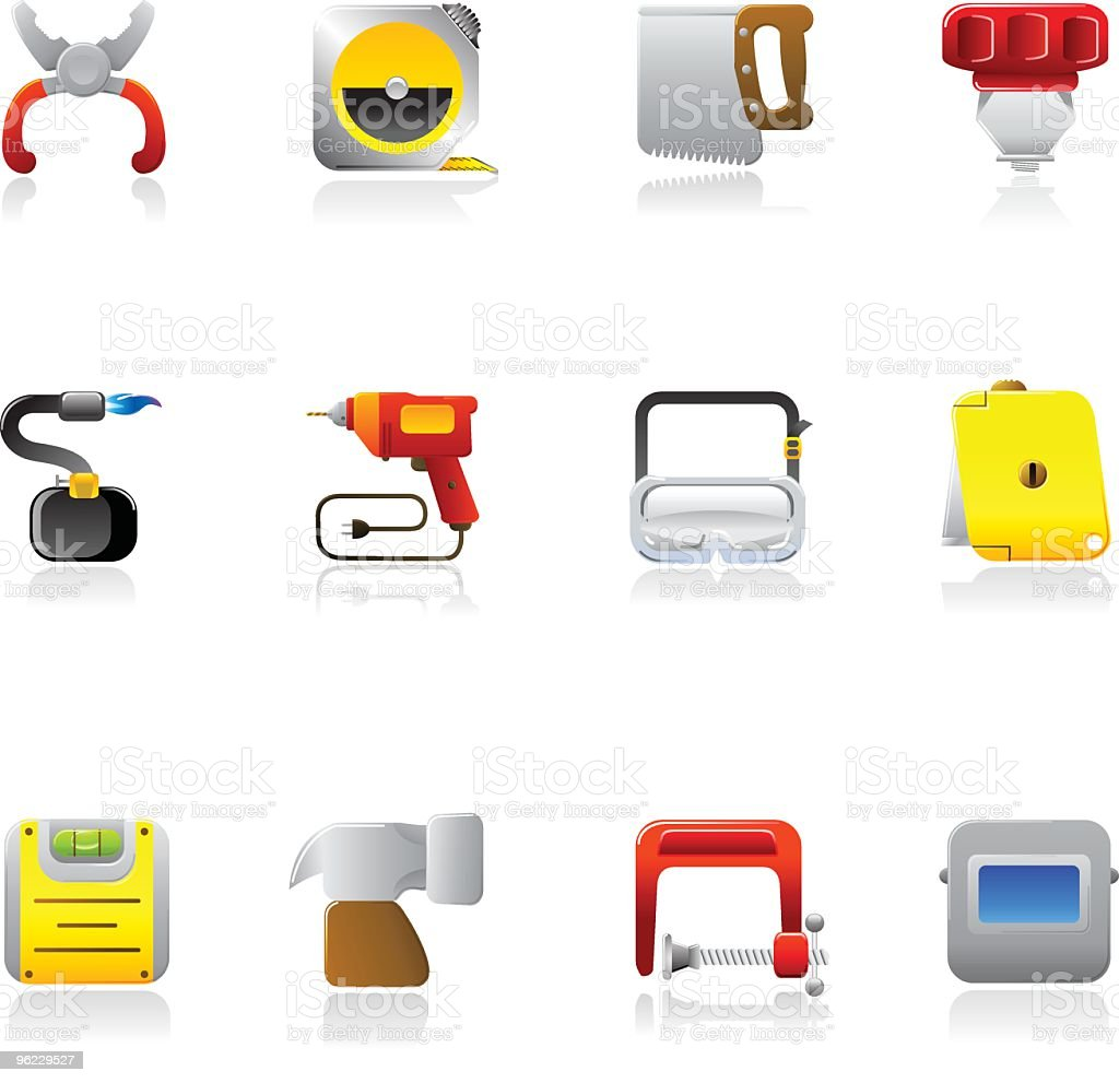 Square Tool Icons royalty-free stock vector art