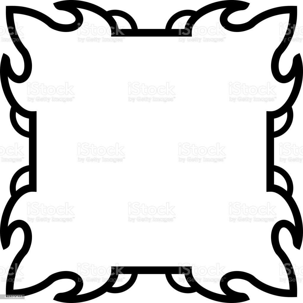 Square vector border frame royalty-free stock vector art