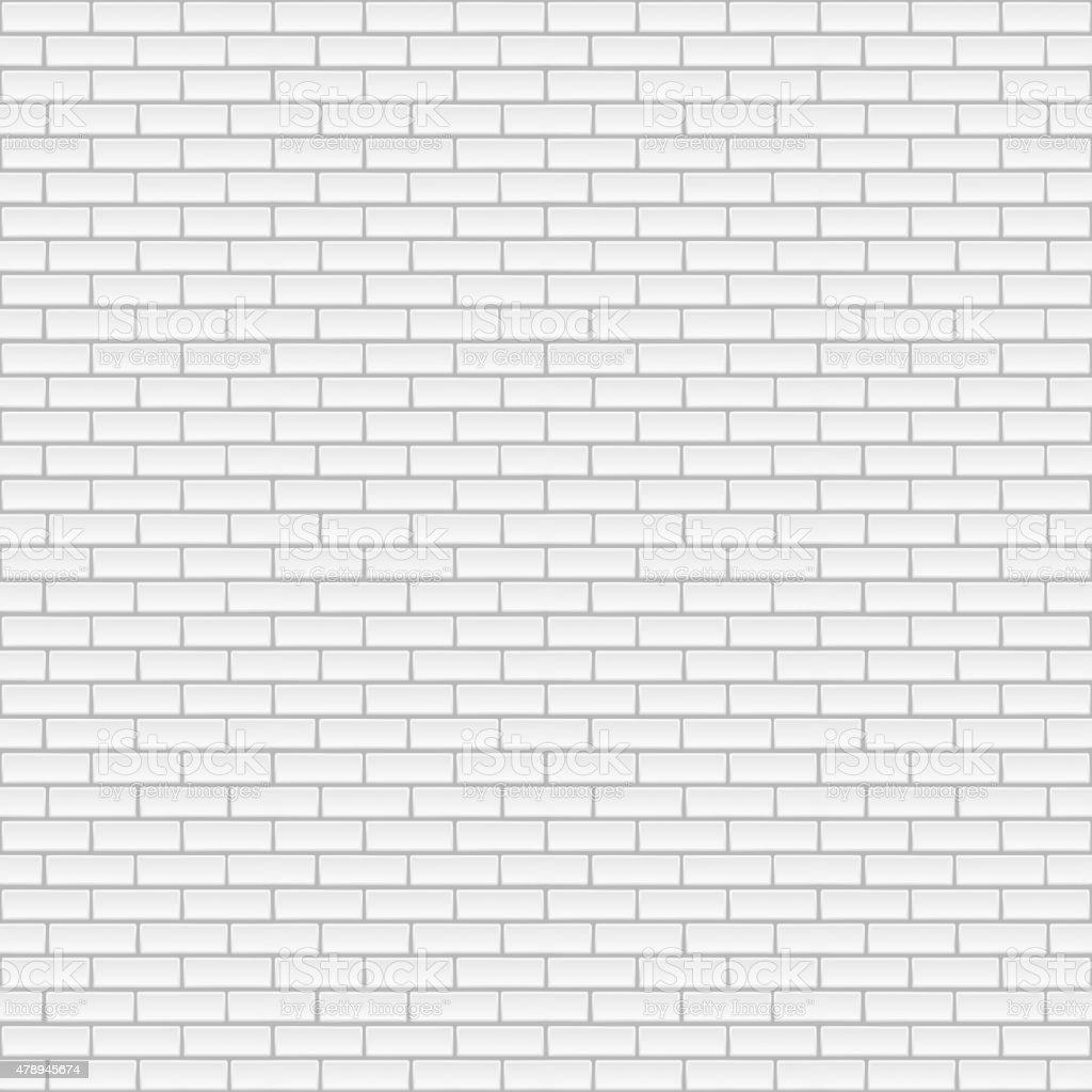 Square white brick wall. vector art illustration