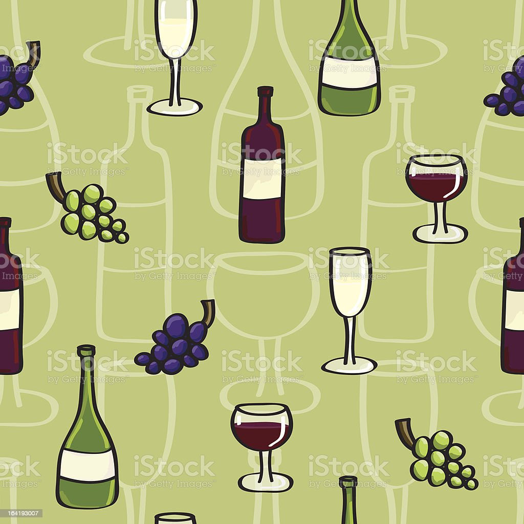 Square Wine Seamless background tile in Cartoon Style royalty-free stock vector art