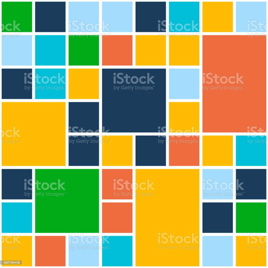 Squares Color Background. Vector Template for Flat Design Interface or royalty-free stock vector art