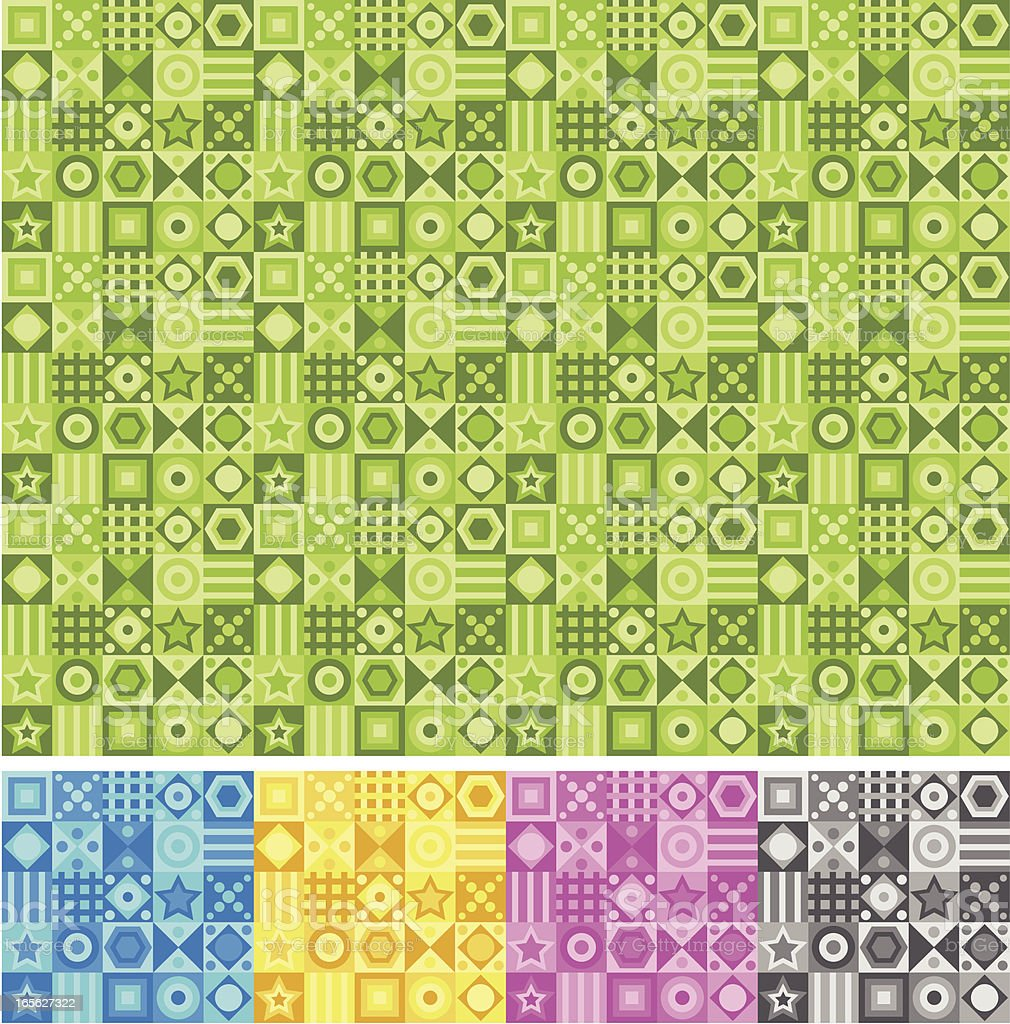 Squares - seamless pattern royalty-free stock vector art