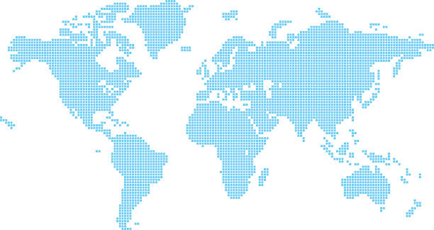 Usa map square dotted clip art vector images illustrations istock squares world map vector art illustration gumiabroncs Image collections