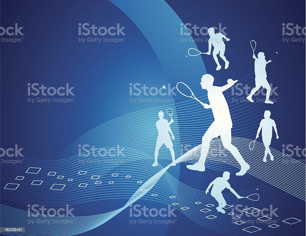 Squash abstract vector art illustration