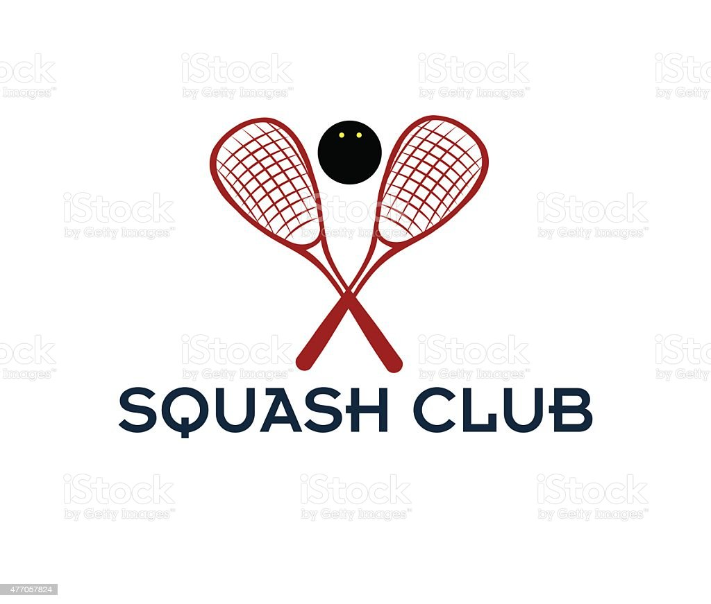 squash club illustration vector art illustration