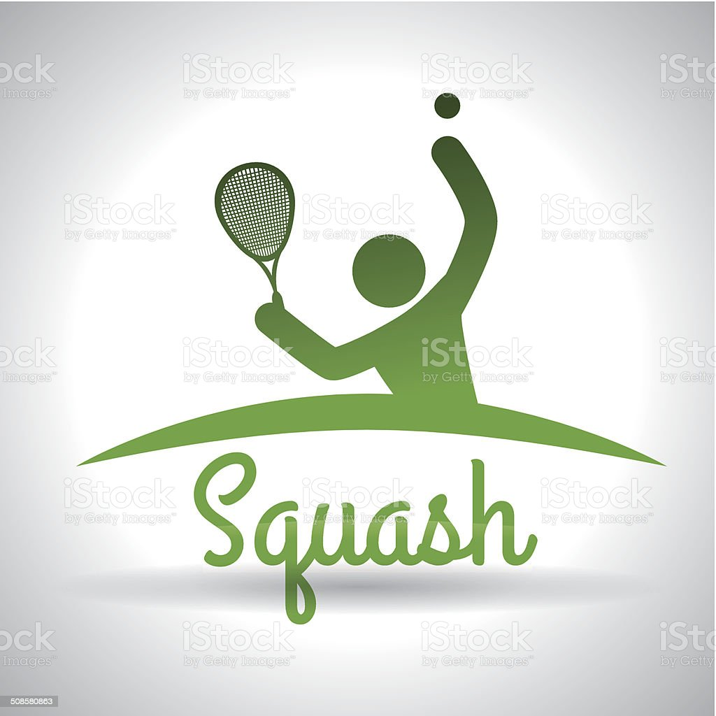 squash  design vector art illustration