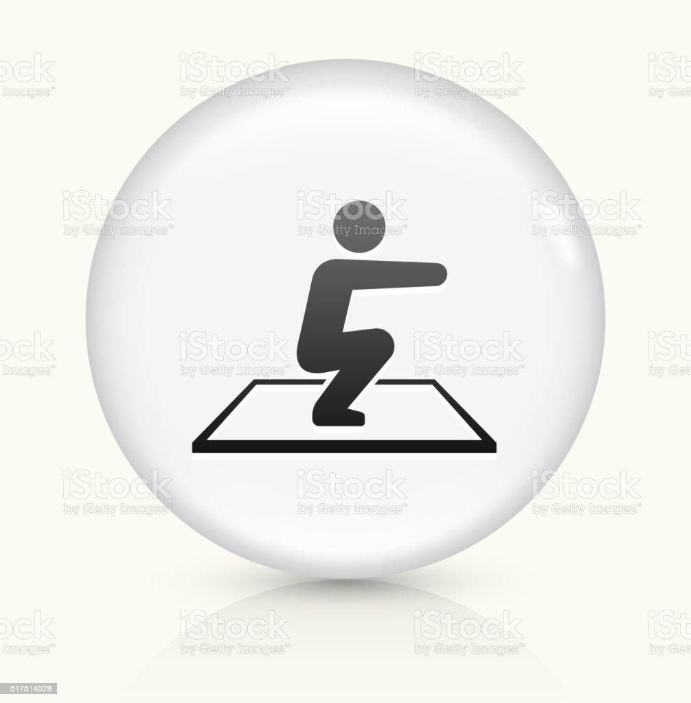 Squat icon on white round vector button vector art illustration