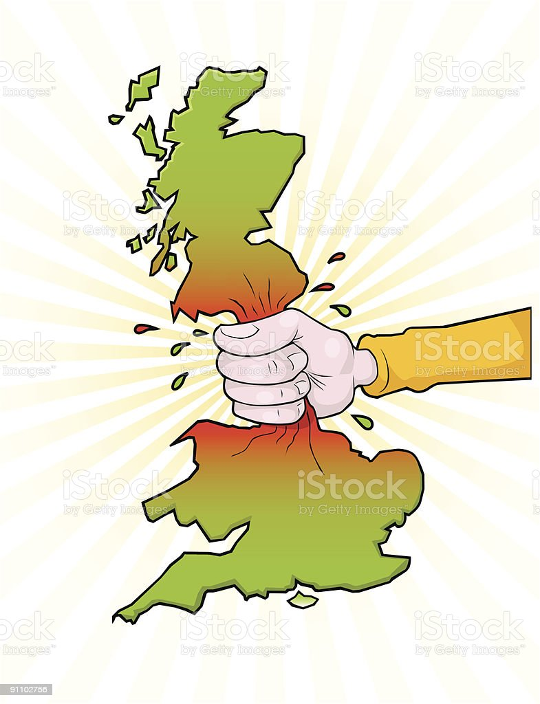 Squeeze Britain vector art illustration