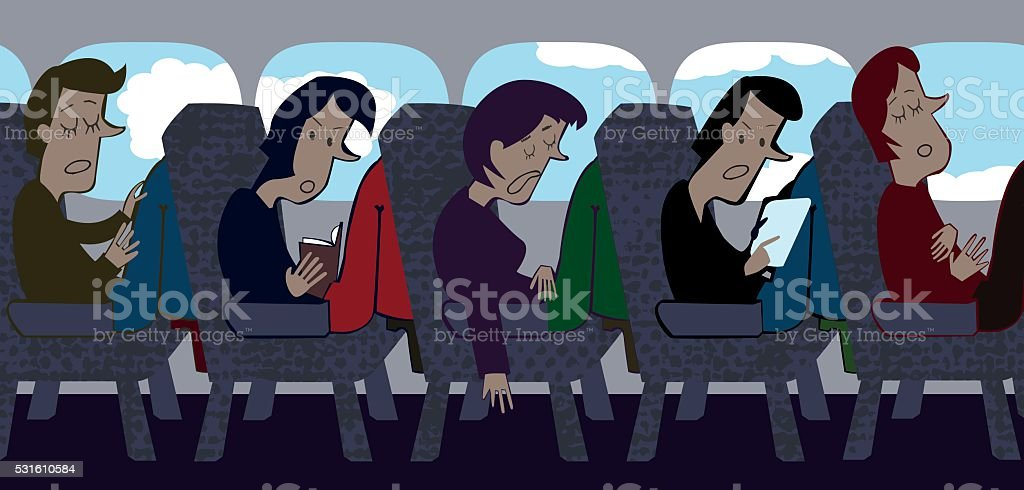 Squeezed Airline vector art illustration