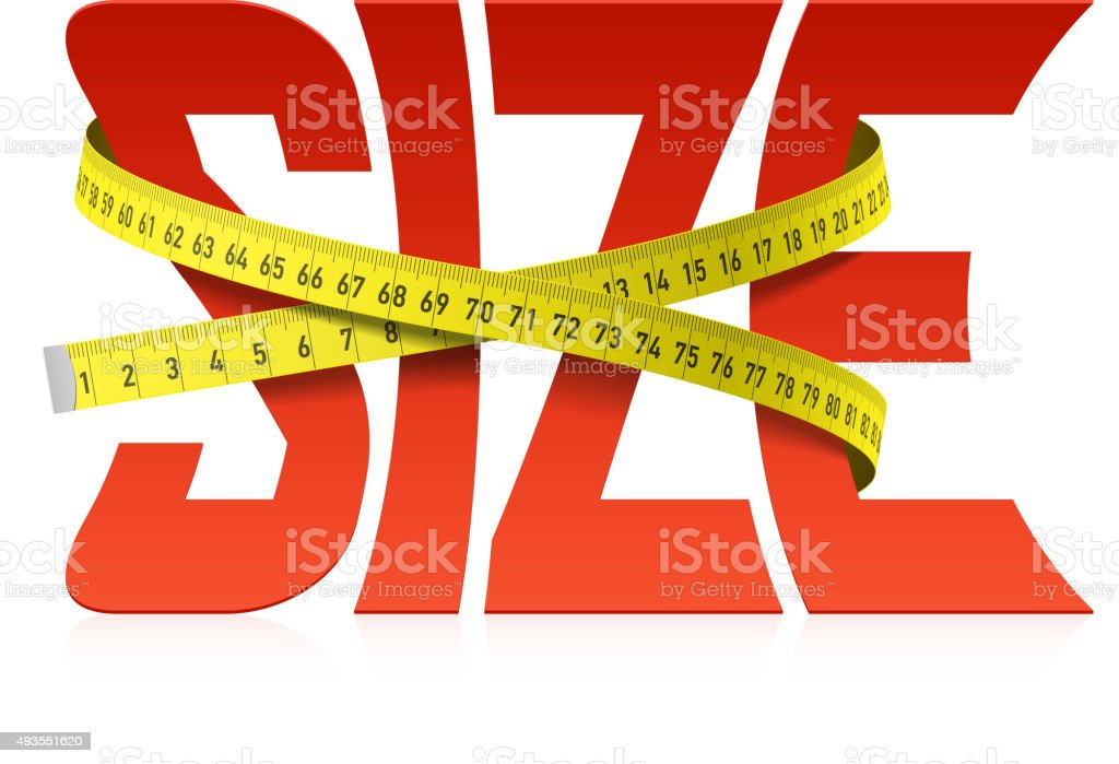 Squeezed Size word concept vector art illustration