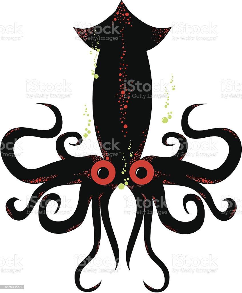 Squid royalty-free stock vector art