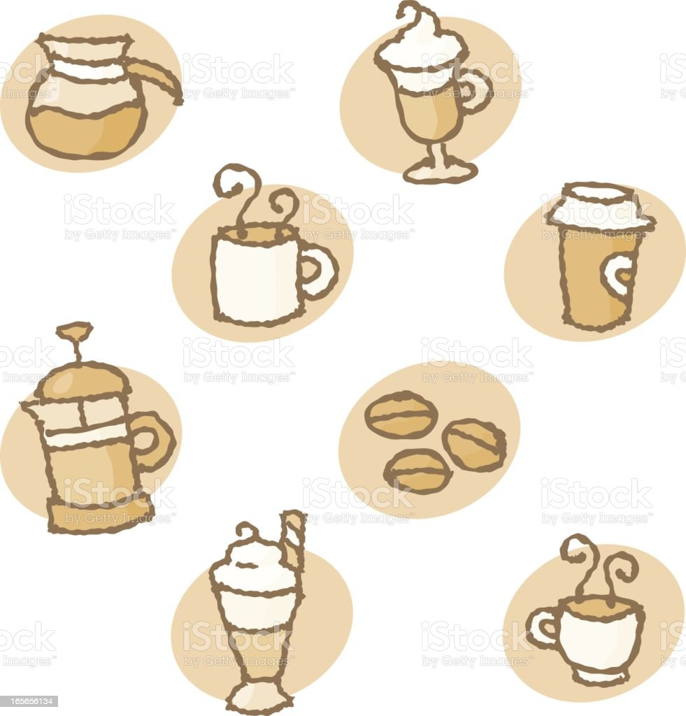 squiggles: at the café royalty-free stock vector art