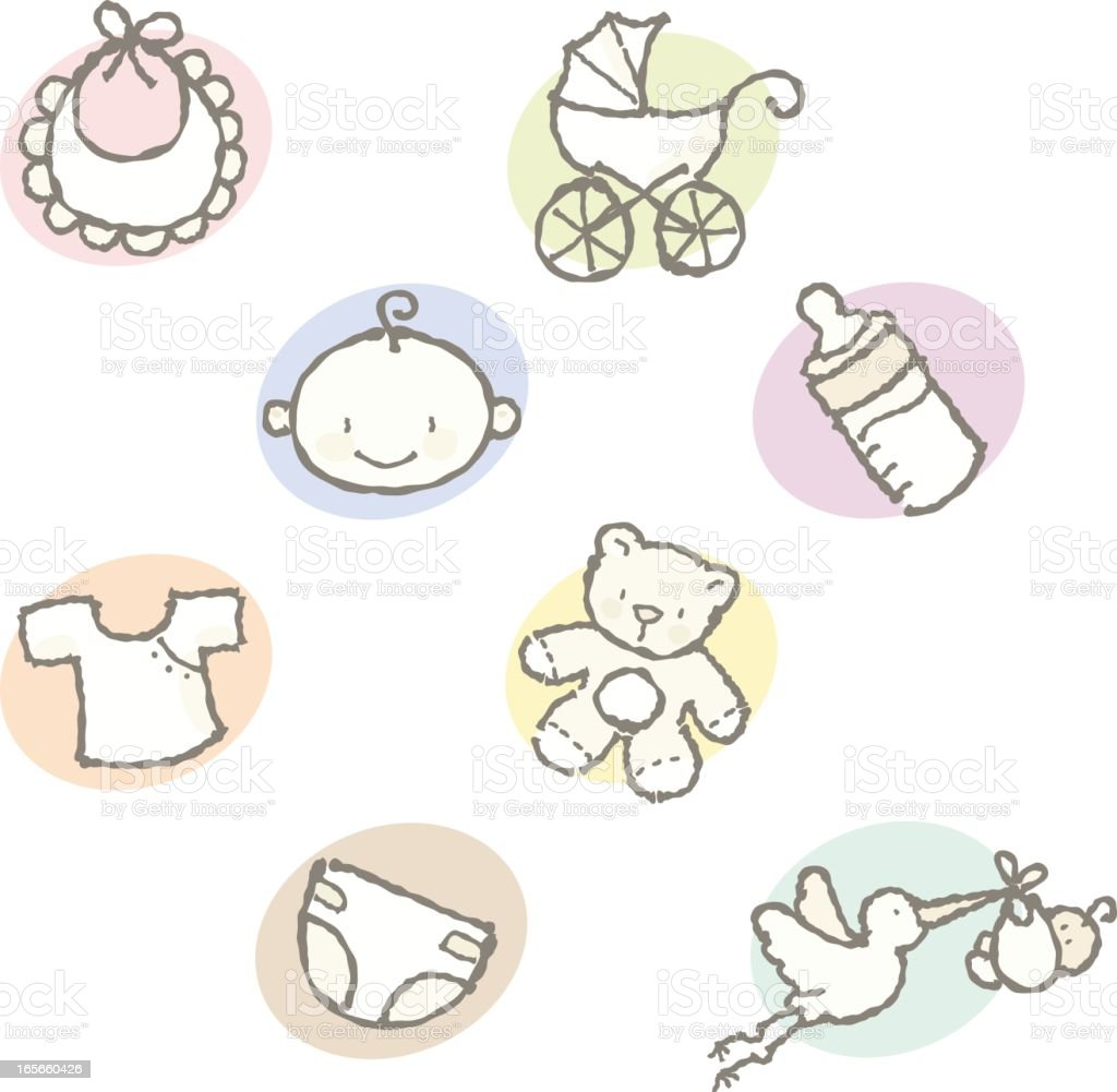 squiggles: baby icons royalty-free stock vector art